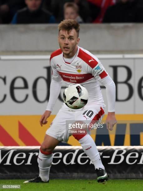 Alexandru Maxim of Stuttgart in action during the Second Bundesliga match between VfB Stuttgart and VfL Bochum at MercedesBenz Arena on March 10 2017...