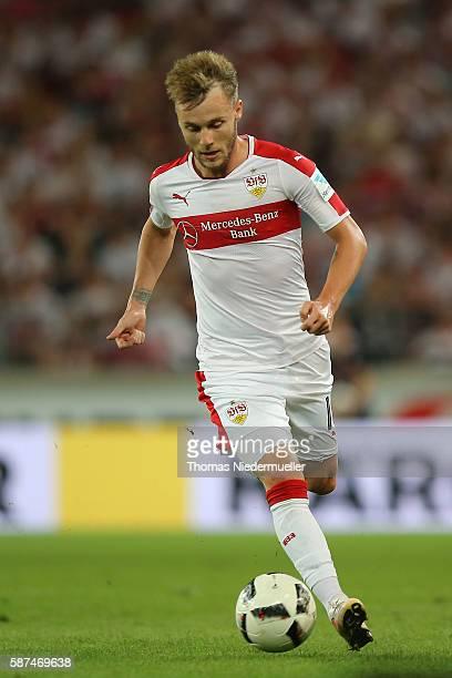 Alexandru Maxim of Stuttgart runs with the ball during the Second Bundesliga match between VfB Stuttgart and FC St Pauli at MercedesBenz Arena on...