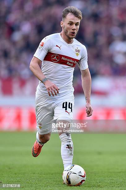 Alexandru Maxim of VfB Stuttgart controls the ball during the Bundesliga match between VfB Stuttgart and Hannover 96 at MercedesBenz Arena on...