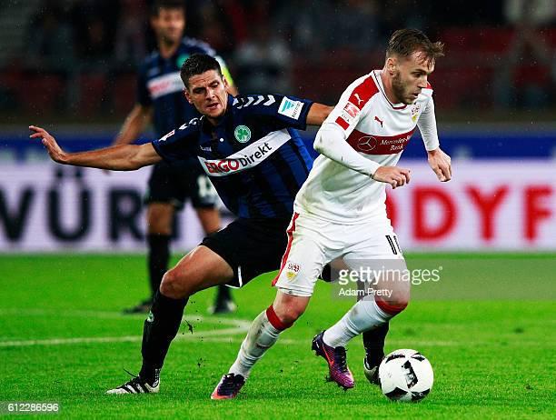 Alexandru Maxim of VfB Stuttgart in action during the Second Bundesliga match between VfB Stuttgart and SpVgg Greuther Fuerth at MercedesBenz Arena...