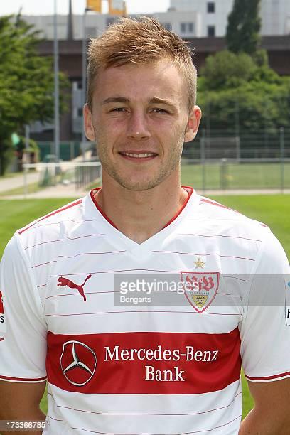 Alexandru Maxim poses during the VfB Stuttgart team presentation on July 10 2013 in Stuttgart Germany