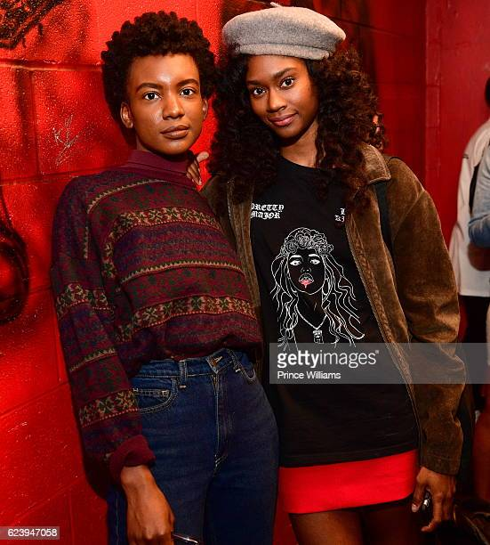 Alexe Belle and Isis Valentino of the Group St Beauty Backstage at the PartyNextDoor and Jeremih Summer's Over Tour at The Tabernacle on November 14...