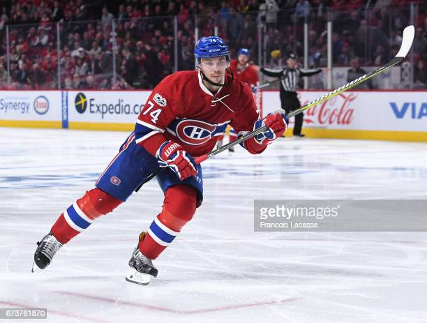 Alexei Emelin of the Montreal Canadiens skates against the New York Rangers in Game Five of the Eastern Conference Quarterfinals during the 2017 NHL...