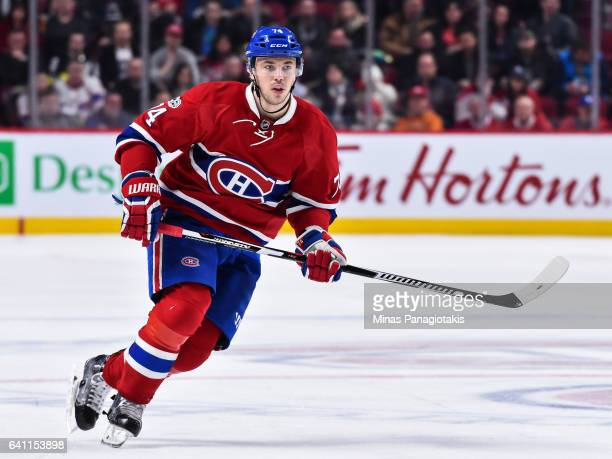 Alexei Emelin of the Montreal Canadiens skates during the NHL game against the Washington Capitals at the Bell Centre on February 4 2017 in Montreal...