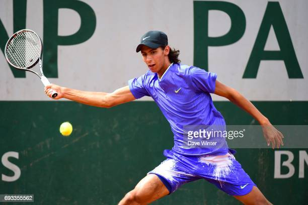 Alexei Popyrin during day 11 of the French Open at Roland Garros on June 7 2017 in Paris France