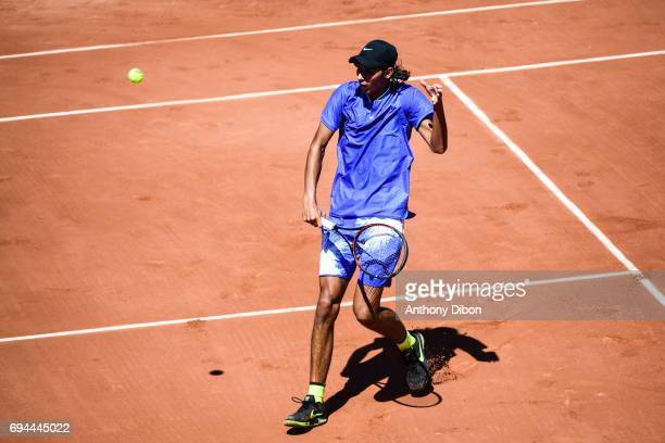 Alexei Popyrin of Australia during the day 14 of the French Open at Roland Garros on June 10 2017 in Paris France