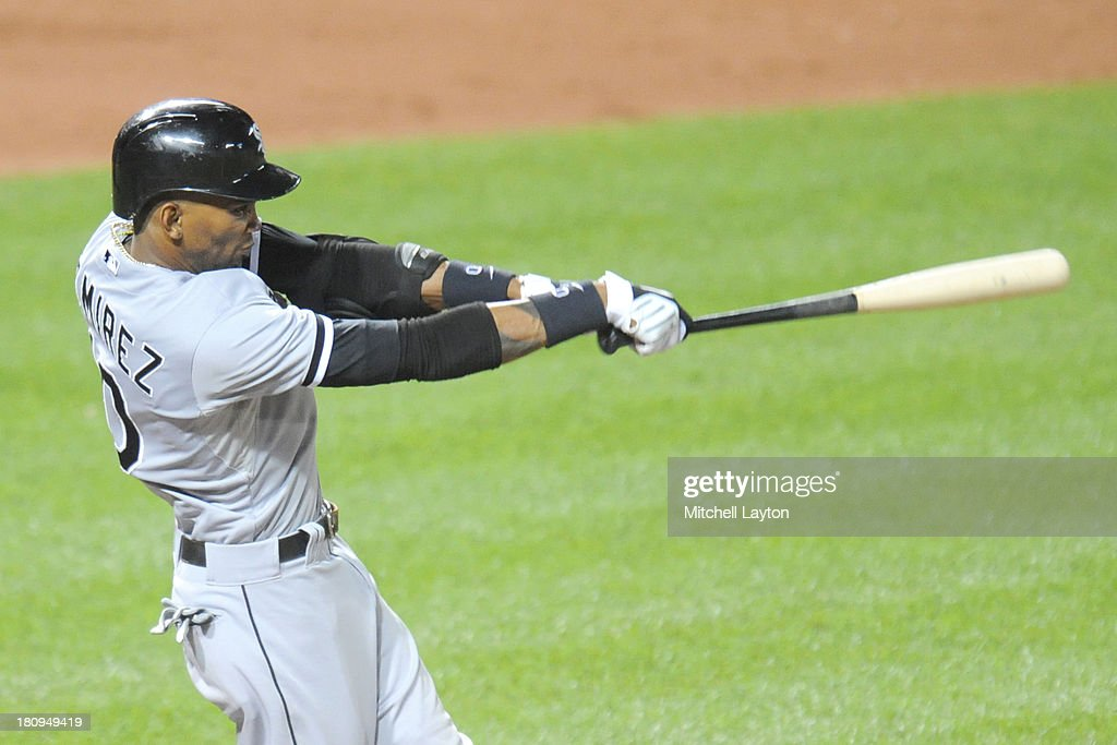 <a gi-track='captionPersonalityLinkClicked' href=/galleries/search?phrase=Alexei+Ramirez&family=editorial&specificpeople=690568 ng-click='$event.stopPropagation()'>Alexei Ramirez</a> #10 of the Chicago White Sox takes a swing during a baseball game against the Baltimore Orioles on September 5, 2013 at Oriole Park at Camden Yards in Baltimore, Maryland. The Orioles won 3-1.