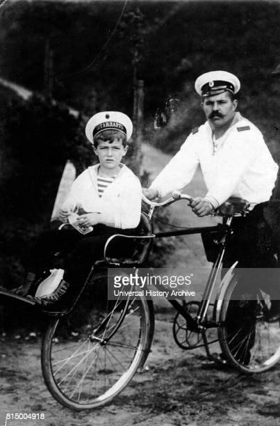 Alexei with his male nurse the sailor Derevenko 1910 Alexei Nikolayevich of the House of Romanov was the Tsarevich and heir apparent to the throne of...