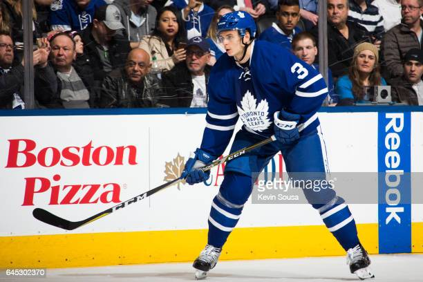 Alexey Marchenko of the Toronto Maple Leafs during the second period at an NHL game against the New York Rangers at the Air Canada Centre on February...