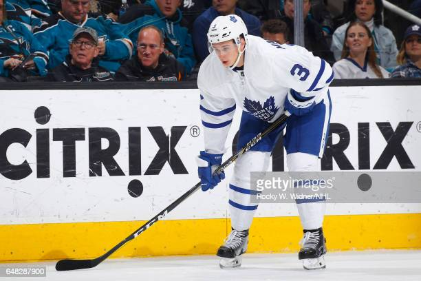 Alexey Marchenko of the Toronto Maple Leafs skates against the San Jose Sharks at SAP Center on February 28 2017 in San Jose California