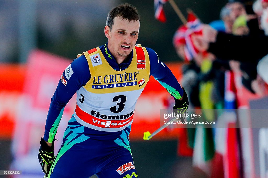 <a gi-track='captionPersonalityLinkClicked' href=/galleries/search?phrase=Alexey+Poltoranin&family=editorial&specificpeople=4131263 ng-click='$event.stopPropagation()'>Alexey Poltoranin</a> of Kazakstan competes during the FIS Nordic World Cup Men's and Women's Cross Country Tour de Ski on January 10, 2016 in Val di Fiemme, Italy.