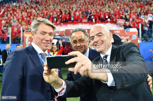 Alexey Sorokin CEO of the Russia 2018 LOC Vitaly Mutko Russian Federation Deputy Prime Minister Local Organising Committee Chairman and Fifa...