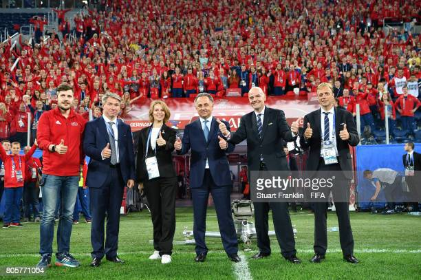 Alexey Sorokin CEO of the Russia 2018 LOC Vitaly Mutko Russian Federation Deputy Prime Minister Local Organising Committee Chairman Fifa President...