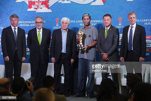 Alexey Sorokin executive director of the local organizing committee of the FIFA Confederations Cup Russia 2017 Decio de Maria President of the...