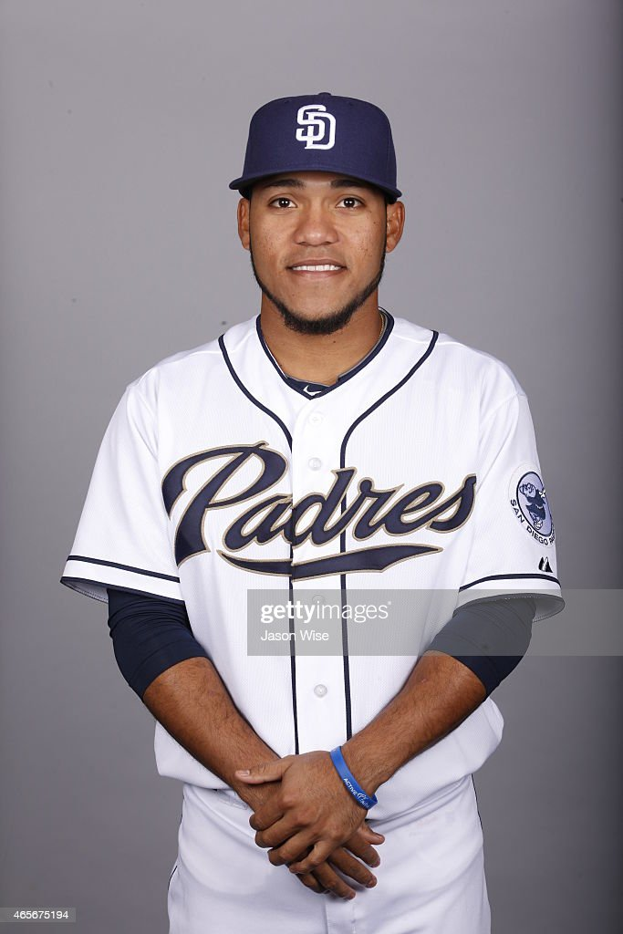 Alexi Amarista of the San Diego Padres poses during Photo Day on Monday March 2 2015 at Peoria Stadium in Peoria Arizona