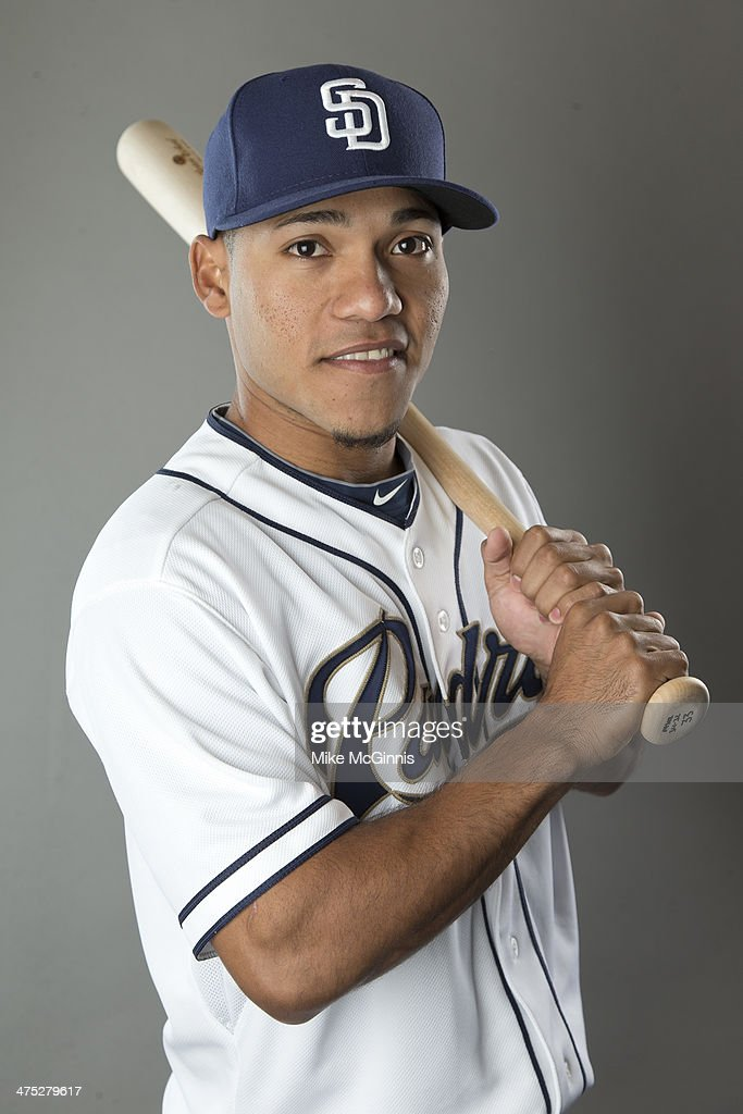Alexi Amarista of the San Diego Padres poses during Picture Day on February 21 2014 at the Peoria Sports Complex in Peoria Arizona