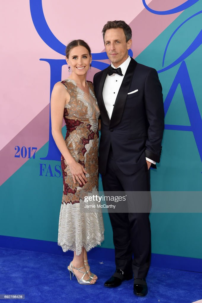 Alexi Ashe and host Seth Meyers attend the 2017 CFDA Fashion Awards at Hammerstein Ballroom on June 5, 2017 in New York City.
