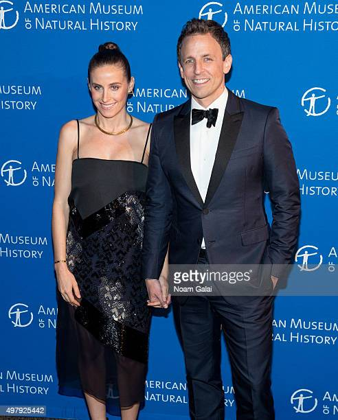 Alexi Ashe and Seth Meyers attend the 2015 American Museum of Natural History Museum Gala at American Museum of Natural History on November 19 2015...