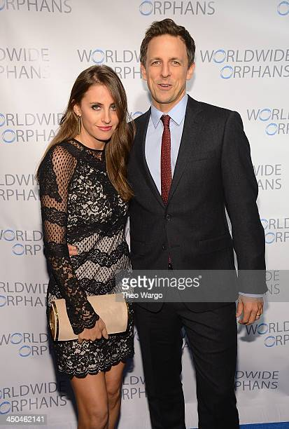 Alexi Ashe and Seth Meyers attend the 9th Annual Worldwide Orphans Gala at Cipriani Wall Street on November 18 2013 in New York City
