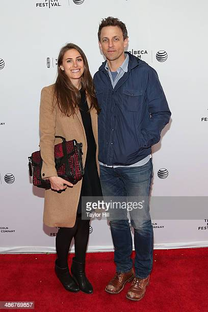 Alexi Ashe and Seth Meyers attend the premiere of 'Sister' during the 2014 Tribeca Film Festival at SVA Theater on April 25 2014 in New York City