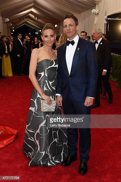 Alexi Ashe and Seth Myers attend the 'China Through The Looking Glass' Costume Institute Benefit Gala at the Metropolitan Museum of Art on May 4 2015...