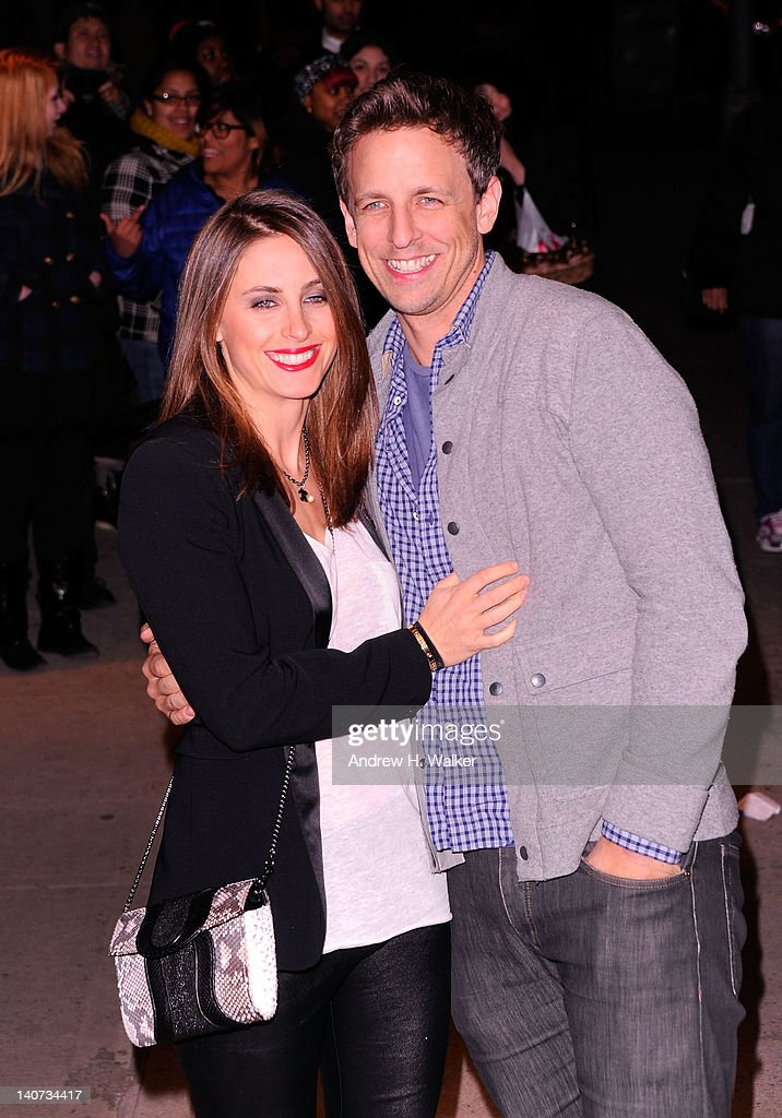 Alexi Ashe and Seth Myers attend the Cinema Society & People StyleWatch with Grey Goose screening of 'Friends With Kids' at the SVA Theater on March 5, 2012 in New York City.