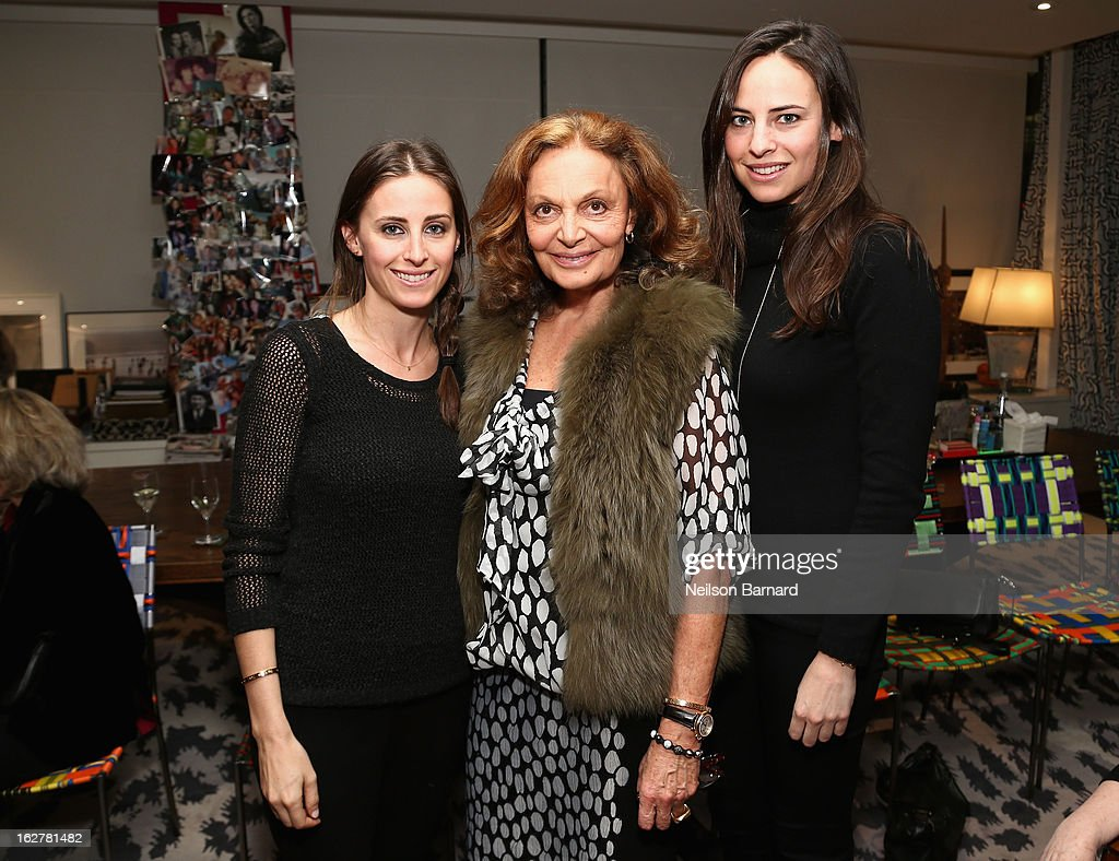 Alexi Ashe, Diane Von Furstenberg and Ariel Ashe attend Diane Von Furstenberg and the United States Holocaust Memorial Museum Director Sara Bloomfield host the Museum's 20th Anniversary reception on February 26, 2013 in New York City.