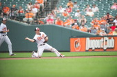 Alexi Casilla of the Baltimore Orioles fields his position during the game against the Detroit Tigers at Oriole Park at Camden Yards on June 2 2013...