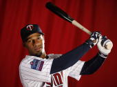 Alexi Casilla of the Minnesota Twins poses during photo day at Hammond Stadium on March 1 2010 in Ft Myers Florida