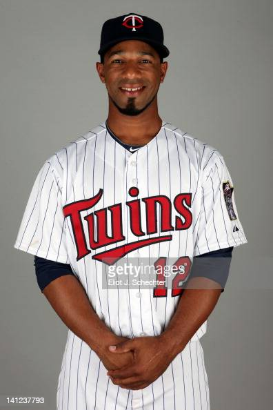 Alexi Casilla of the Minnesota Twins poses during Photo Day on Monday February 27 2012 at Hammond Stadium in Fort Myers Florida