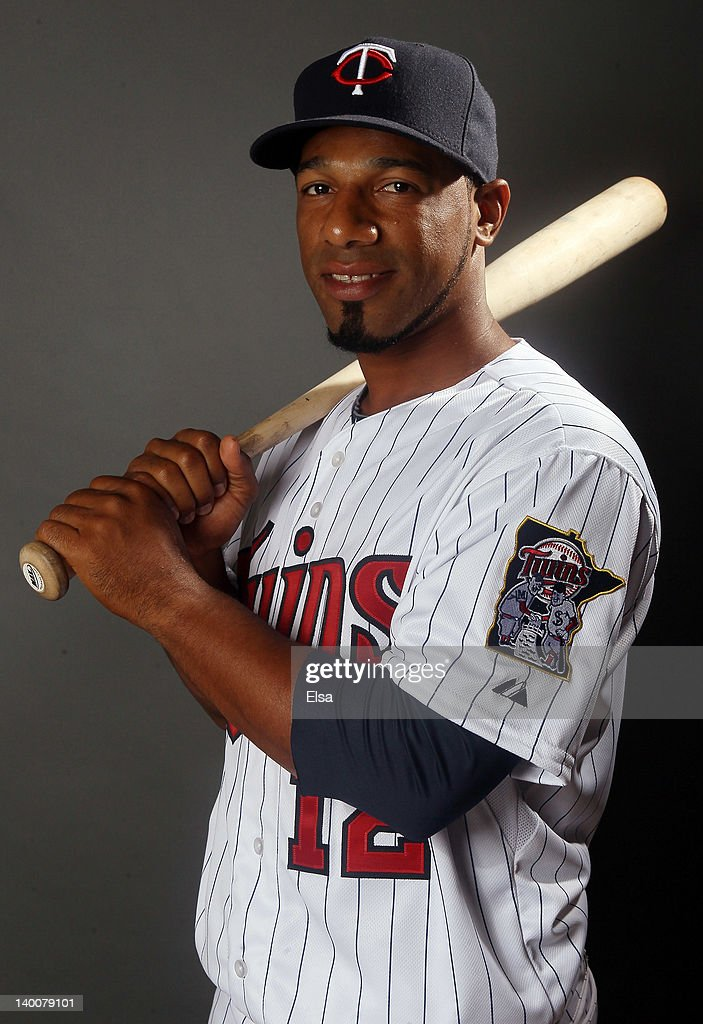 <a gi-track='captionPersonalityLinkClicked' href=/galleries/search?phrase=Alexi+Casilla&family=editorial&specificpeople=4180372 ng-click='$event.stopPropagation()'>Alexi Casilla</a> #12 of the Minnesota Twins poses for a portrait on February 27, 2012 at Hammond Stadium in Fort Myers, Florida.