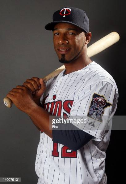 Alexi Casilla of the Minnesota Twins poses for a portrait on February 27 2012 at Hammond Stadium in Fort Myers Florida
