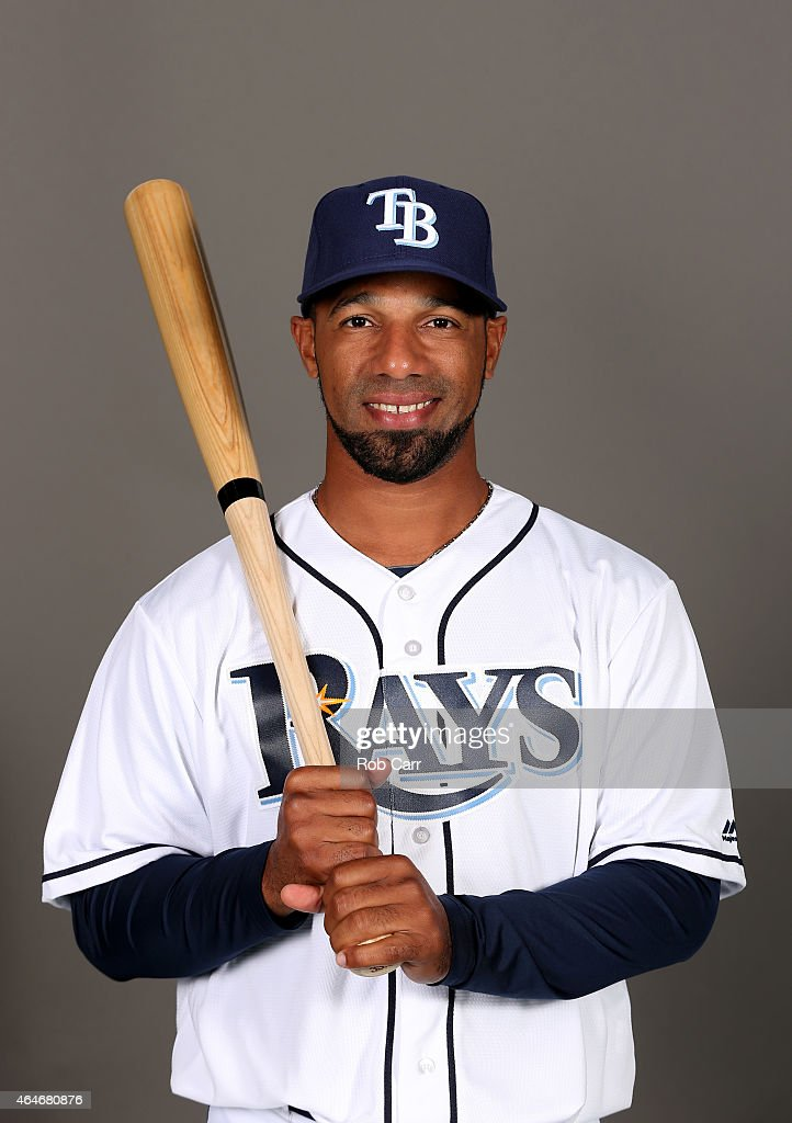 Alexi Casilla of the Tampa Bay Rays poses for a photo on photo day at Charlotte Sports Park on February 27 2015 in Port Charlotte Florida