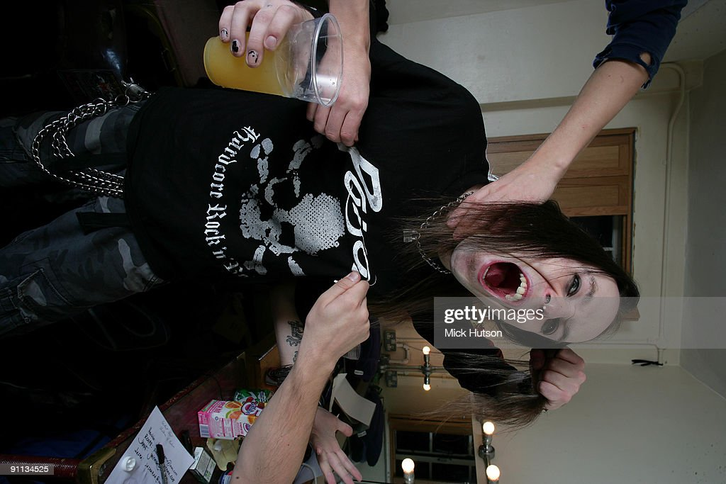 FINLAND Alexi Laiho from Children Of Bodom wrestles with various band mates in Finland in 2006