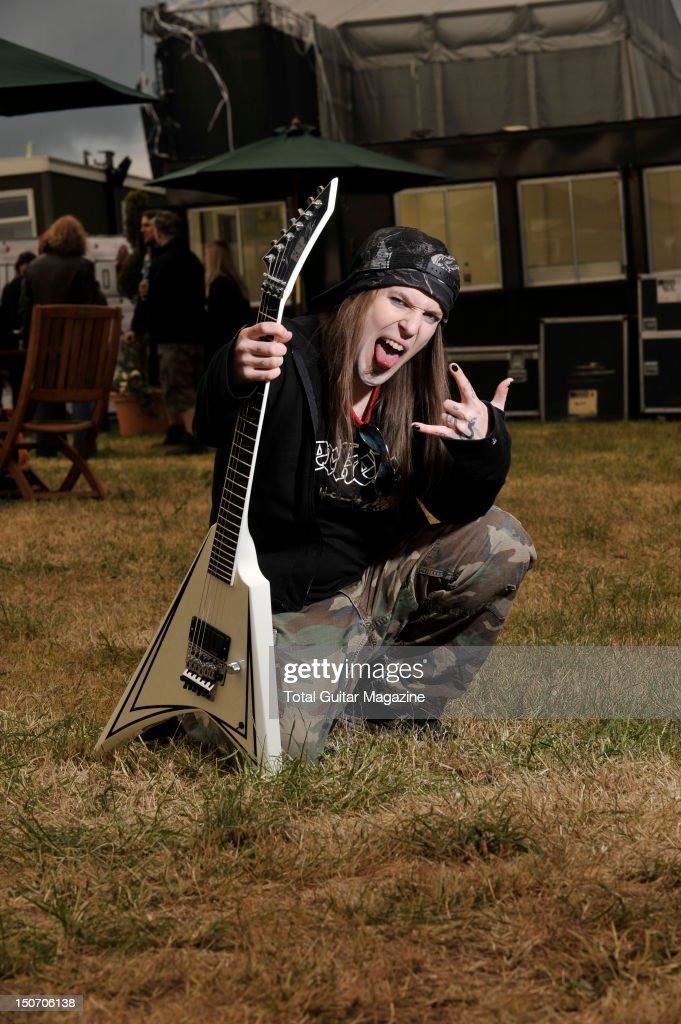 Alexi Laiho of Finnish heavy metal band Children of Bodom backstage at Download Festival June 10 Donington Park