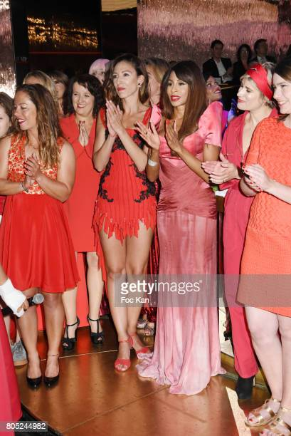 Alexia Barrier Anne Roumanoff Silvia Notargiacomo Mia Frye Stephanie Valton anda guest attend the 'Red Defile' Auction Fashion Show Hosted by Ajila...