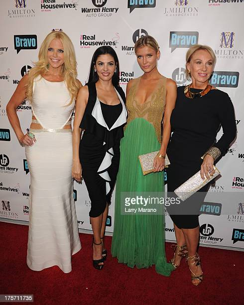 Alexia Echevarria Adriana De Moura Joanna Krupa and Lea Black attend 'The Real Housewives of Miami' season 3 premiere party on August 6 2013 in Miami...