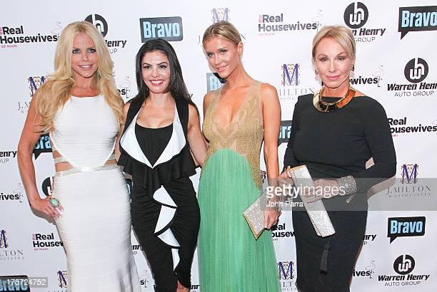 Alexia Echevarria Adriana de Moura Joanna Krupa and Lea Black attend The Real Housewives of Miami Season 3 Premiere Party on August 6 2013 in Miami...