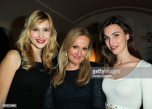 Alexia Fast Sally Morrison and Rainey Qualley attends LoveGold Celebrates Fred Leighton at Chateau Marmont on February 21 2013 in Los Angeles...