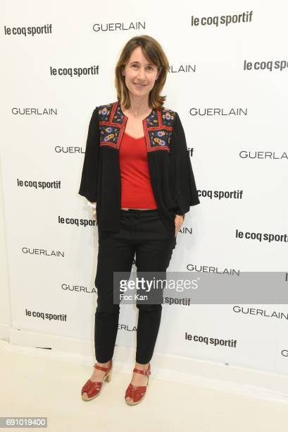 Alexia Laroche Joubert attends Le Coq Sportif x Guerlain photocall at the Le Coq Sportif Flagship on May 31 2017 in Paris France