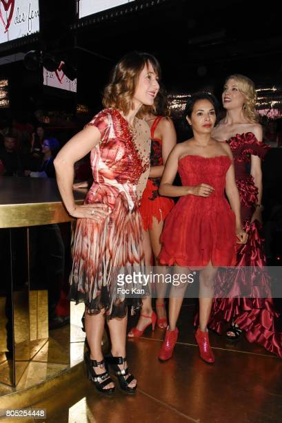 Alexia Laroche Joubert Saida Jawad and Claire Verneil attend the 'Red Defile' Auction Fashion Show Hosted by Ajila Association Association Against...