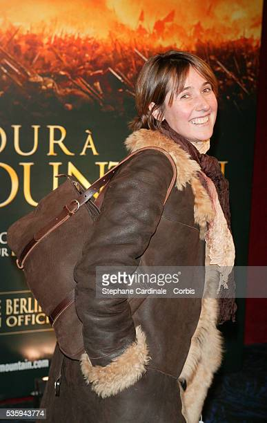 Alexia Laroche Joubert the former director of 'Star Academy' attends the premiere of 'Cold Mountain' in Paris