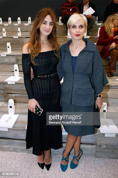 Alexia Niedzelski and Melita Toscan du Plantier attend the Chanel Cruise 2017/2018 Collection Show at Grand Palais on May 3 2017 in Paris France