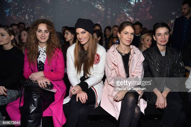 Alexia NiedzelskiBianca Brandolini d'AddaEugenie Niarchos and Leila Yavari attend the Moncler Gamme Rouge show as part of the Paris Fashion Week...