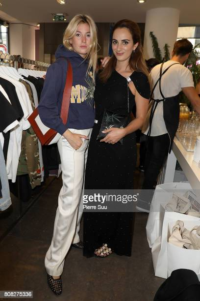 Alexia Niedzielski and Camille Charriere attend Creatures of the Wind System Magazine hosted by Colette with Juergen Teller and Marley Natural at...