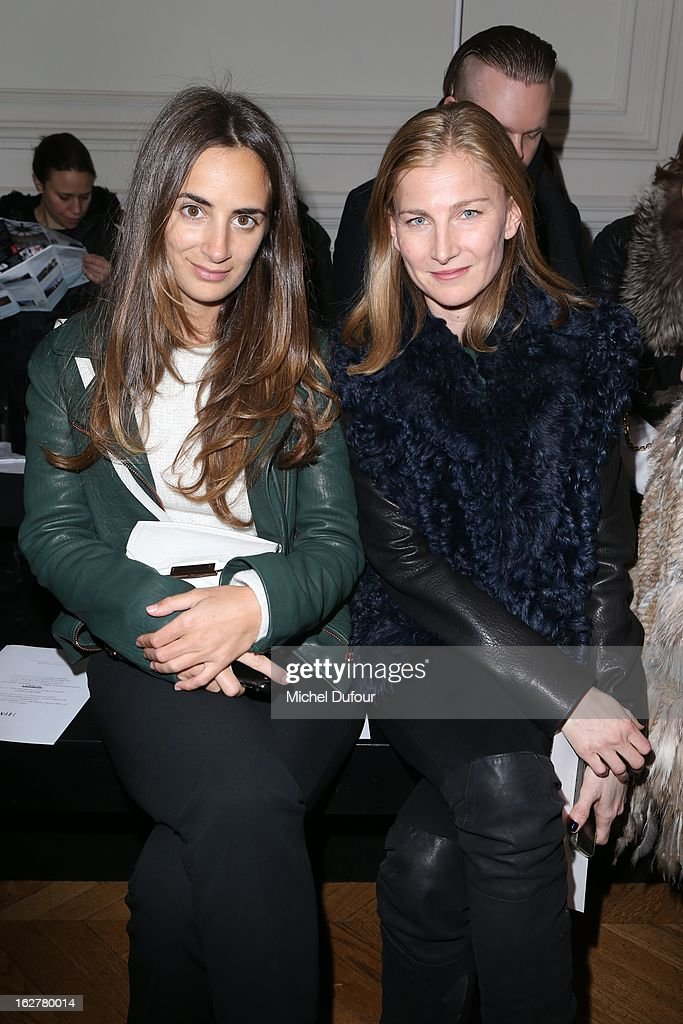 Alexia Niedzielski and Elisabeth von Guttman attend the Anthony Vaccarello Fall/Winter 2013 Ready-to-Wear show as part of Paris Fashion Week on February 26, 2013 in Paris, France.