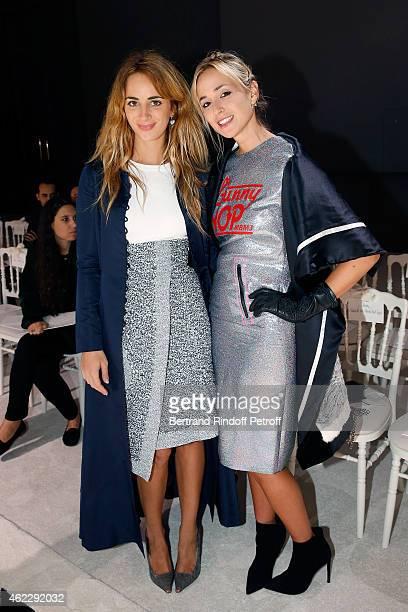 Alexia Niedzielski and Elisabeth von Thurn und Taxis attend the Giambattista Valli show as part of Paris Fashion Week Haute Couture Spring/Summer...