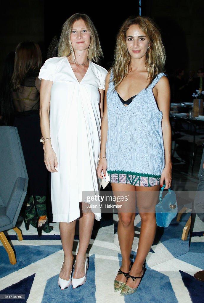 Alexia Niedzielski and Elizabeth von Guttman attend the Miu Miu Resort Collection 2015 at Palais d'Iena on July 5, 2014 in Paris, France.