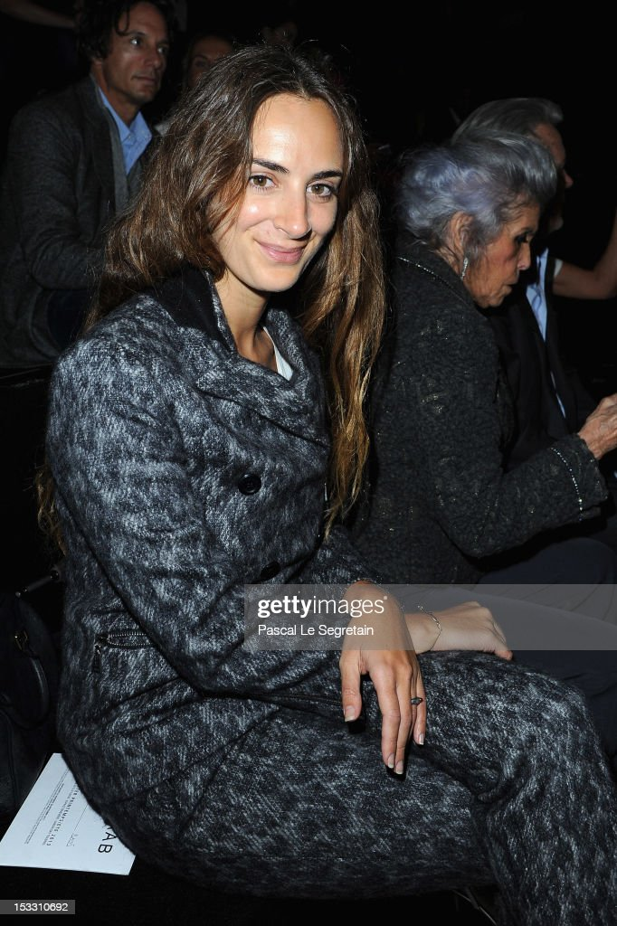 Alexia Niedzielski attends the Elie Saab Spring/Summer 2013 show as part of Paris Fashion Week at Espace Ephemere Tuileries on October 3, 2012 in Paris, France.