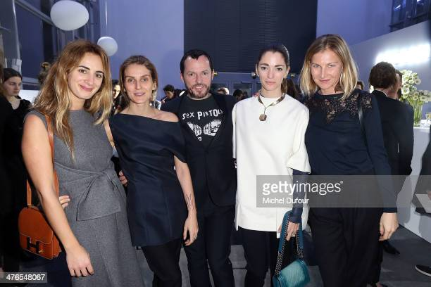 Alexia Niedzielski Gaia Repossi Alexandre de Bettak Sofia Sanchez and Elisabeth von Guttman attend the Gaia Repossi's Jewelry Collection At Jeu de...